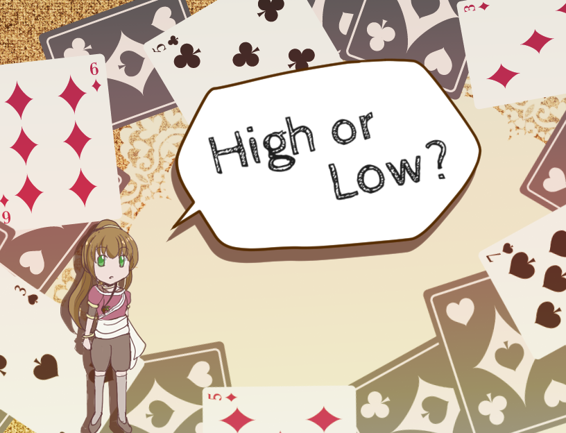 High or Low? タイトル画面